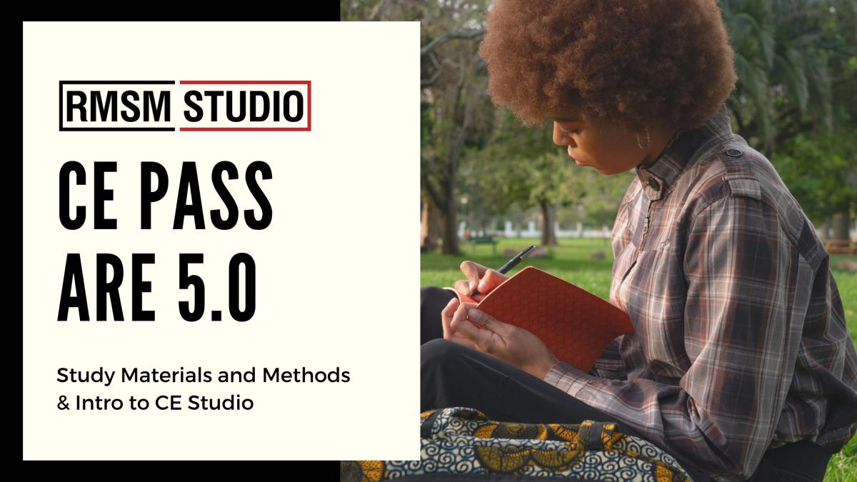 CE Pass ARE 5.0 – Study Materials andMethods