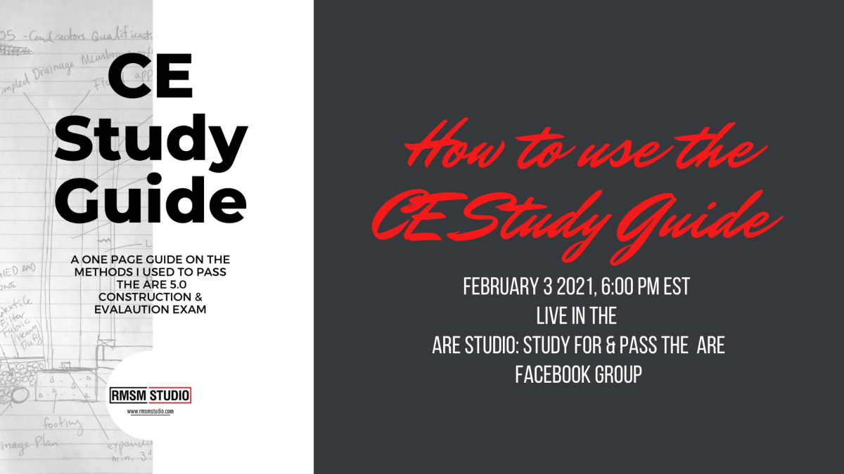 How to Use the CE Study Guide: Live Event on Feb. 3rd